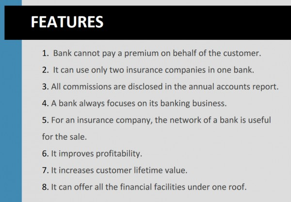 Benefits and Features of Bancassurance