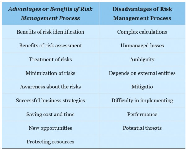 Risk Management Advantages and Disadvantages